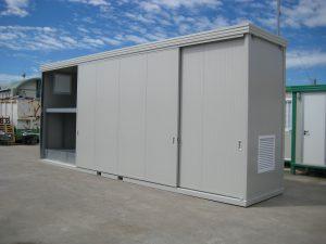 Box coimbentato con bacino di contenimento per stoccaggio sostanze inquinanti
