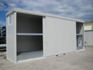 Box stoccaggio materiale inquinante ad uso contenimento fitofarmaci
