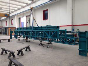 Cassaforma per la costruzione di pilastri in cemento