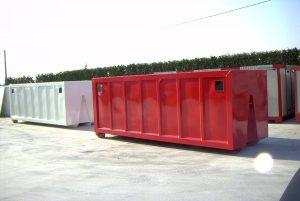 Cassone scarrabile silos per segatura