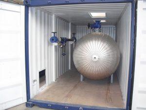 Container modificato per impianto di riscaldamento