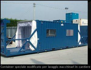 Container modificato per lavaggio scavatori
