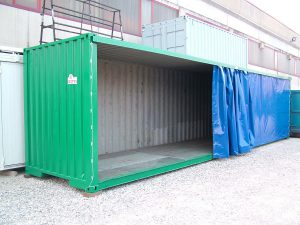 Container modificato per uso magazzino