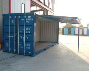 Container modificato per uso officina