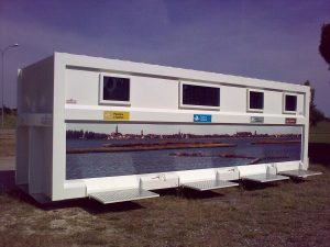 Isola ecologica mobile costruita su cassone scarrabile